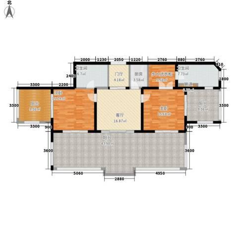 东和福湾2室1厅2卫1厨167.00㎡户型图