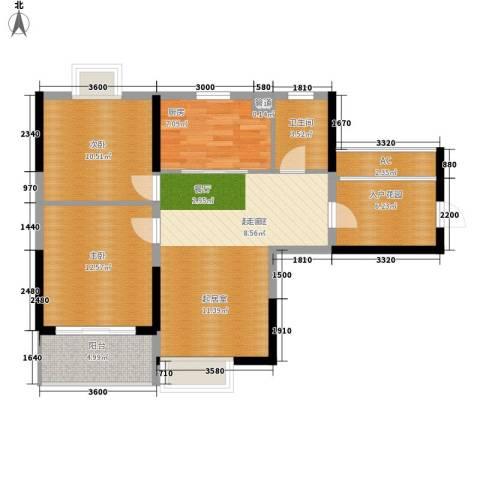 华银天际二期2室0厅1卫1厨86.00㎡户型图