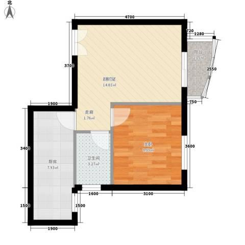 尚义桥小区1室0厅1卫1厨40.00㎡户型图