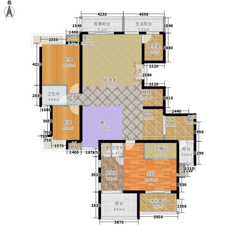 五指山水林溪4栋-A2-e下层户型3室2厅2卫2厨