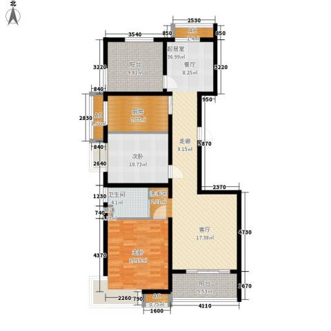 自由都市(乐活家园)2室0厅1卫1厨109.00㎡户型图