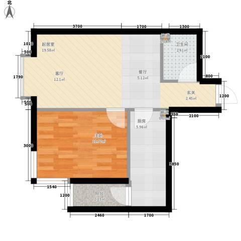 锦绣江南1室0厅1卫1厨54.00㎡户型图