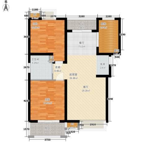 自由都市(乐活家园)2室0厅1卫1厨97.00㎡户型图