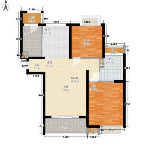新悦花园2室0厅1卫1厨97.00㎡户型图
