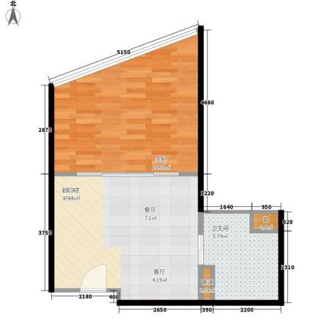 锦绣温泉1室0厅1卫0厨50.00㎡户型图