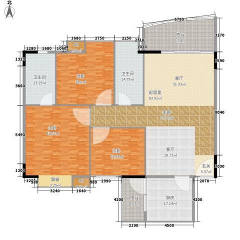 东田丽园五期3室0厅2卫1厨268.00㎡户型图