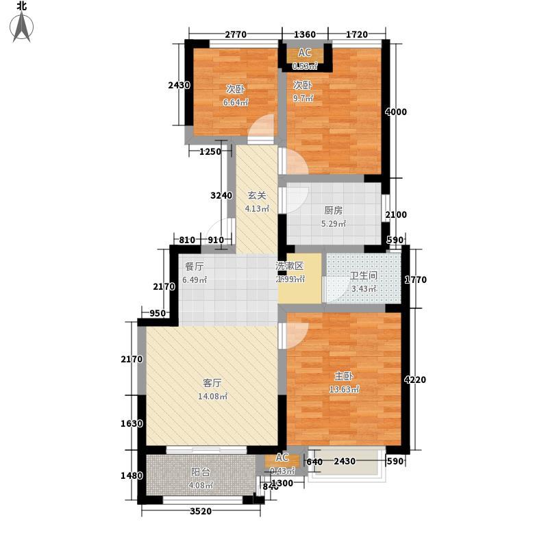 北环阳光92.00㎡北环阳光户型图C23室2厅1卫1厨户型3室2厅1卫1厨