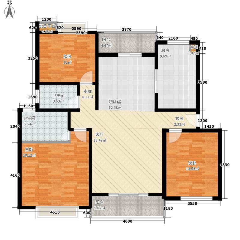 盛世名门136.00㎡盛世名门3室户型3室