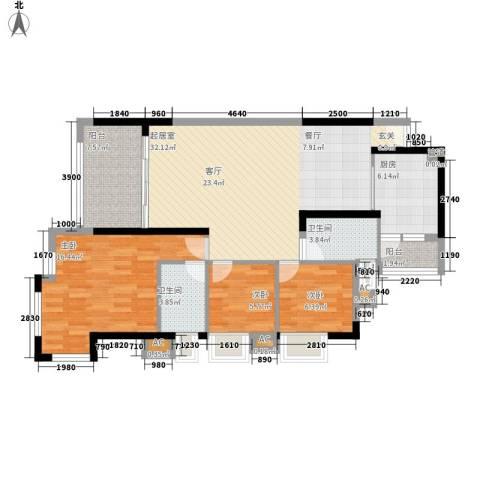 半山雍景苑3室0厅2卫1厨109.00㎡户型图