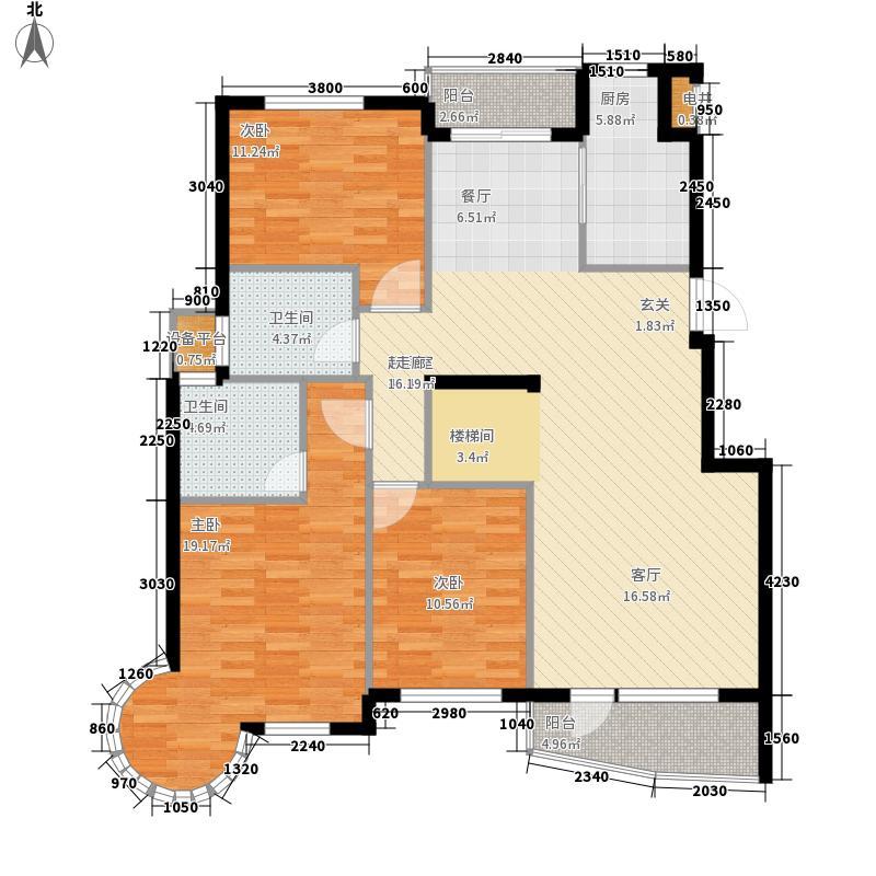西雅图海洋之星5室户型5室3厅3卫1厨
