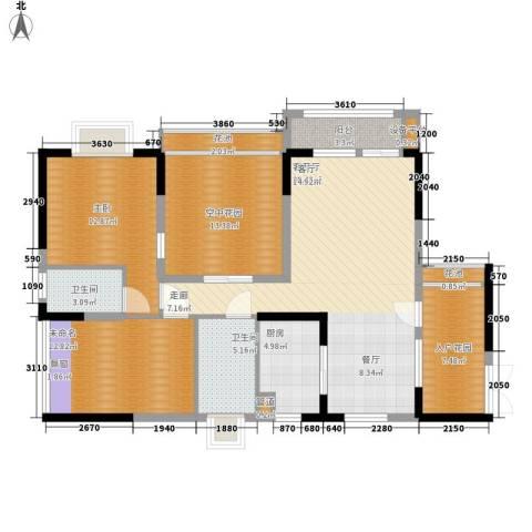 新世纪领居二期1室1厅2卫1厨106.00㎡户型图