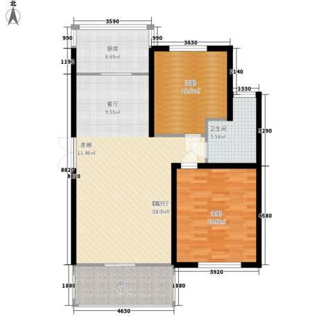 银雅轩2室1厅1卫1厨119.00㎡户型图
