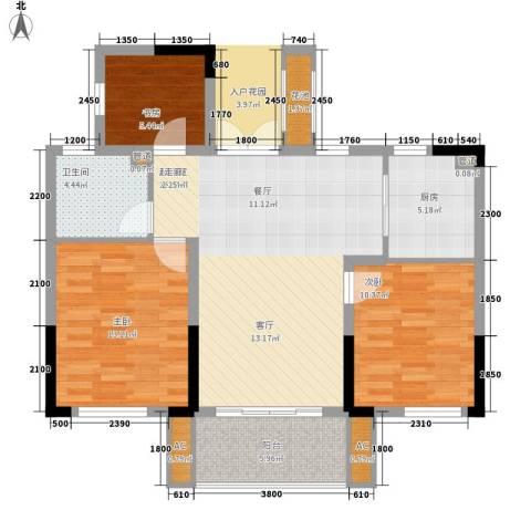 宇恒明月星城3室0厅1卫1厨89.00㎡户型图