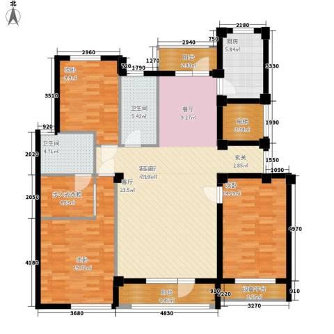富贵南山3室1厅2卫1厨132.00㎡户型图