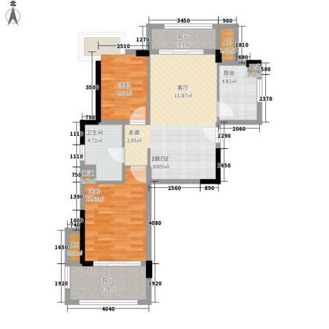 万科城新里程2室0厅1卫1厨94.00㎡户型图
