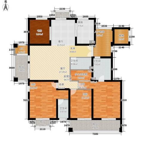 栖霞栖庭4室0厅3卫1厨190.00㎡户型图