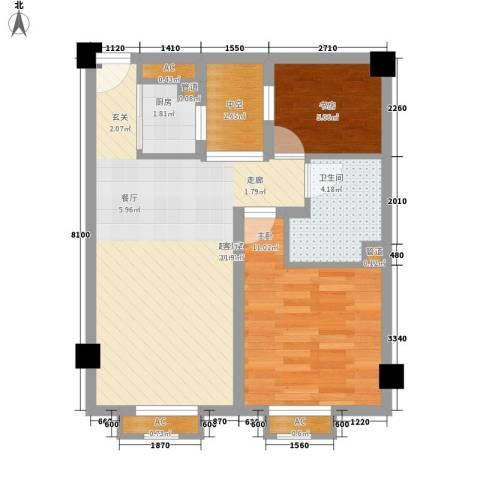 公正新苑2室0厅1卫1厨48.31㎡户型图