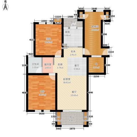 长青城2室0厅1卫1厨91.19㎡户型图