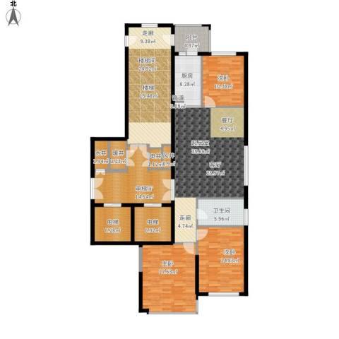 尚城国际3室0厅1卫1厨215.00㎡户型图