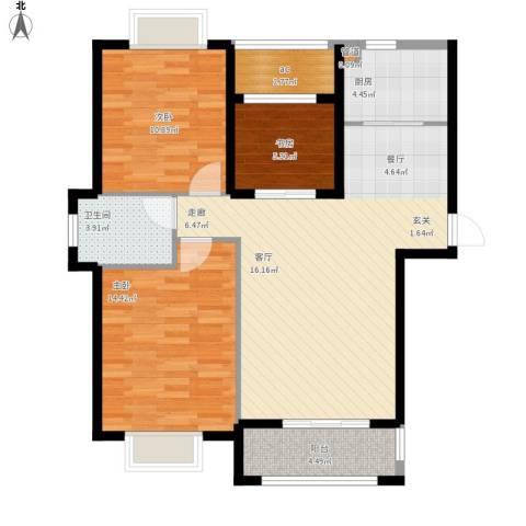 星光银河湾3室0厅1卫1厨106.00㎡户型图