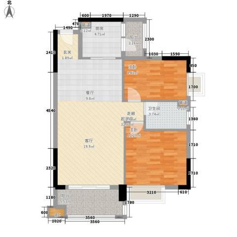 奥米茄花园2室0厅1卫1厨81.00㎡户型图