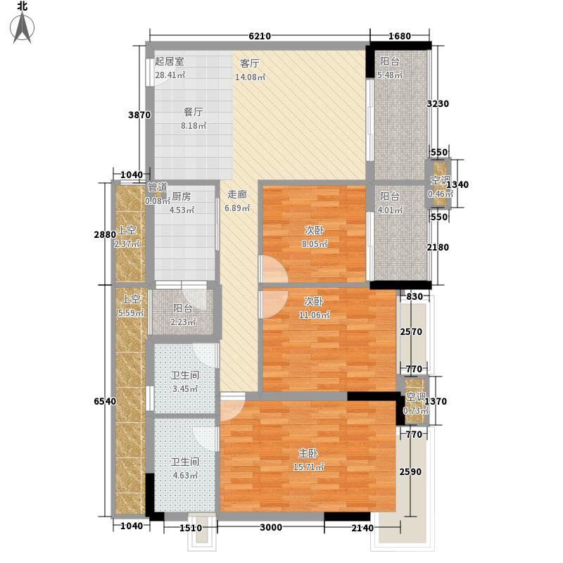 大学时光110.93㎡5栋03单位2面积11093m户型