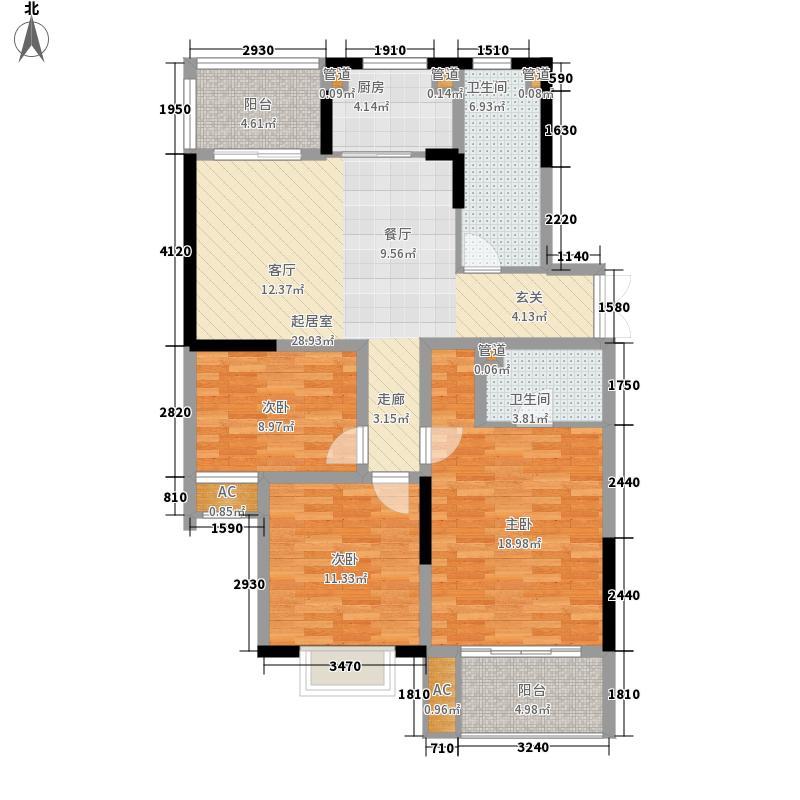 金银岛国际公寓110.00㎡B2户型