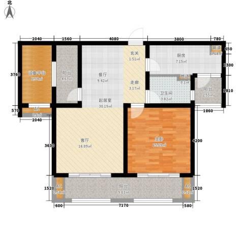 华润置地橡树湾1室0厅1卫1厨95.00㎡户型图