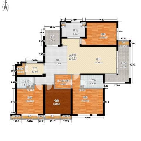华润置地橡树湾4室0厅2卫1厨170.00㎡户型图