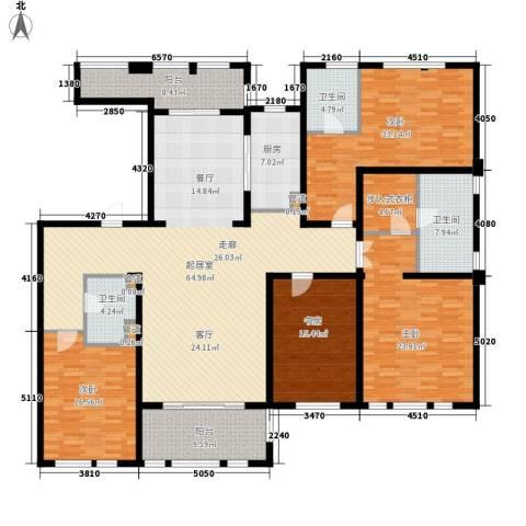华润置地橡树湾4室0厅3卫1厨216.00㎡户型图