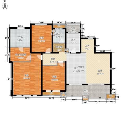 华润置地橡树湾3室0厅2卫1厨170.00㎡户型图