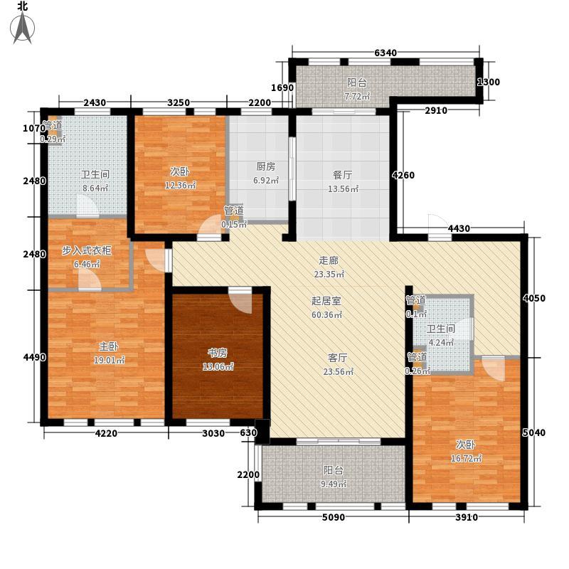 华润置地橡树湾187.00㎡华润置地橡树湾户型图大平层D2户型4室2厅2卫1厨户型4室2厅2卫1厨