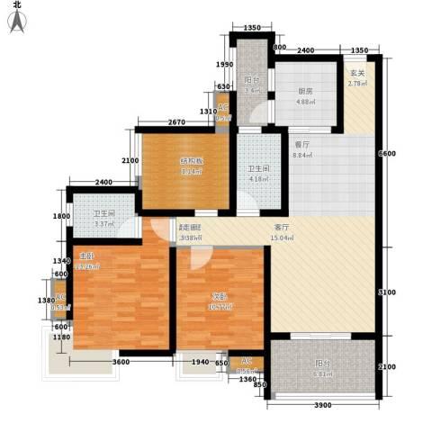 九鼎蓝波湾2室0厅2卫1厨99.00㎡户型图