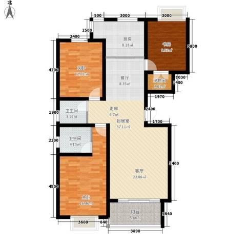 巨海城3室0厅2卫1厨137.00㎡户型图