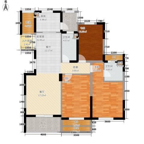 宇恒明月星城3室0厅2卫1厨121.00㎡户型图