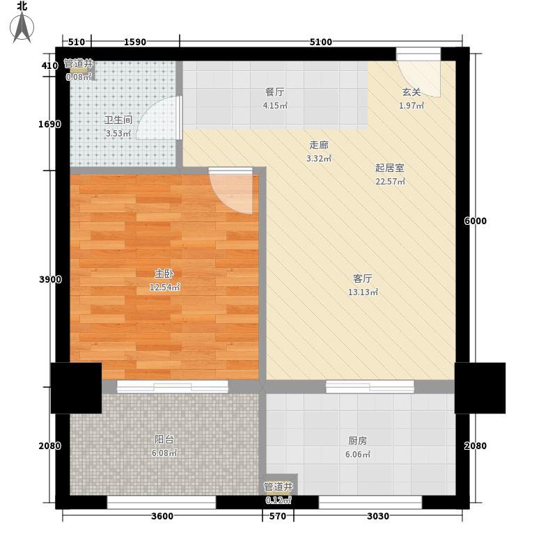 上新阶71.14㎡上新阶户型图E户型图2室1厅1卫户型2室1厅1卫