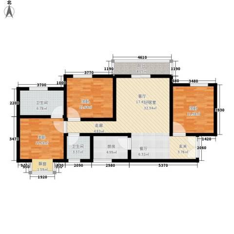 上林沣苑3室0厅2卫1厨120.00㎡户型图