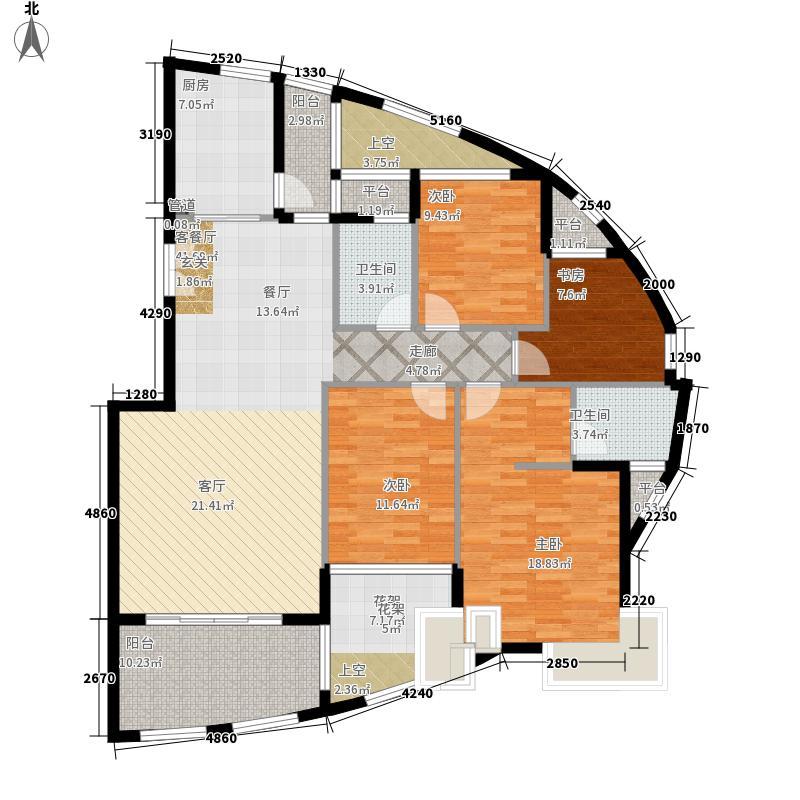 华立凤凰城153.50㎡4室2厅2卫2阳台1衣帽间1电梯 A户型4室2厅2卫