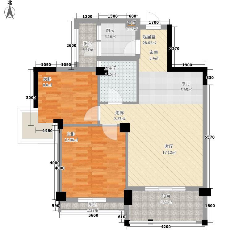 万兴公爵府86.31㎡万兴公爵府户型图B2户型图2室2厅1卫1厨户型2室2厅1卫1厨