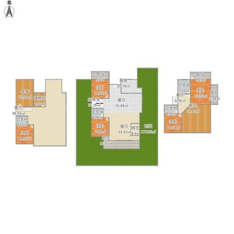 君地上郡5室2厅4卫1厨733.00㎡户型图