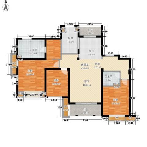 华润置地橡树湾3室0厅2卫1厨143.00㎡户型图