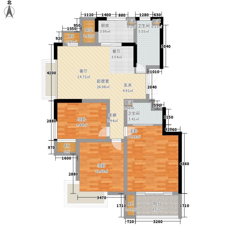 金银岛国际公寓101.00㎡A户型