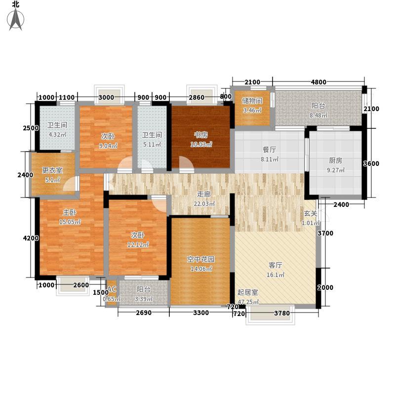 长沙嘉华城186.47㎡28#栋-A2面积18647m户型