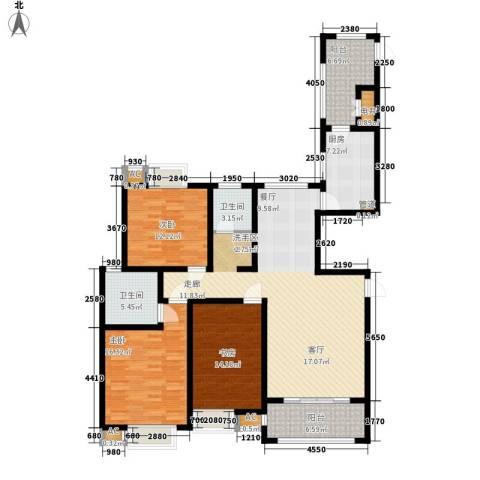 自由都市(乐活家园)3室0厅2卫1厨134.00㎡户型图