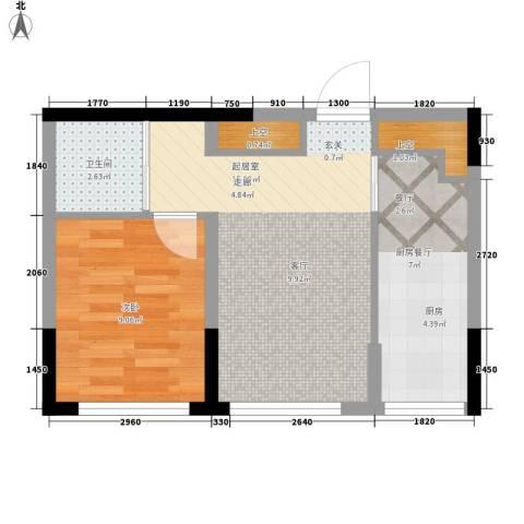 彩虹风景1室0厅1卫0厨50.00㎡户型图