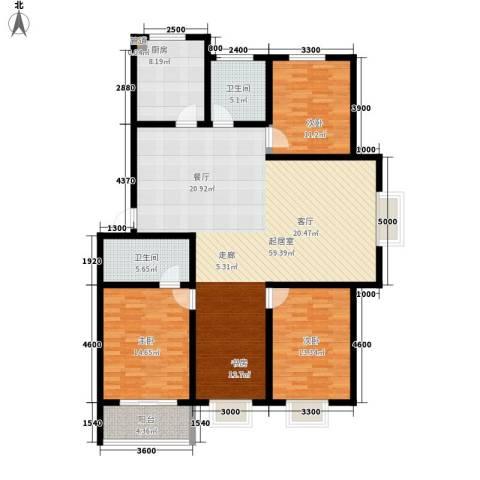 楚天书香门第3室0厅2卫1厨121.94㎡户型图