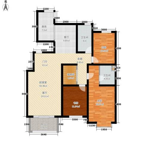 巨海城3室0厅2卫1厨157.00㎡户型图
