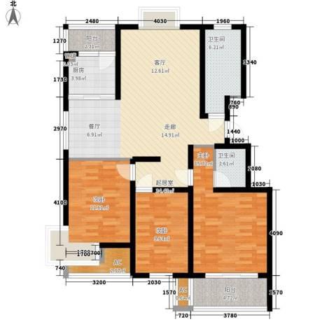 新悦花园3室0厅2卫1厨110.00㎡户型图