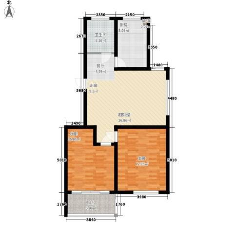 新悦花园2室0厅1卫1厨93.00㎡户型图