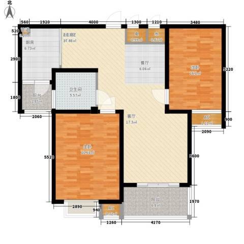 新悦花园2室0厅1卫1厨118.00㎡户型图